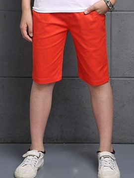 Ericdress Solid Color Boys Knee Length Pants
