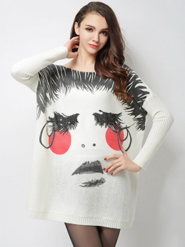 Ericdress Color Block Loose Knitwear