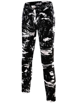 Ericdress Mid-Waist Straight Casual Print Men's Pants