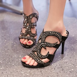Ericdress Vintage Rivets Stiletto Sandals