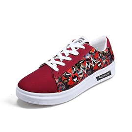 Ericdress Printed Round Toe Men's Canvas Shoes