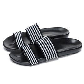 Ericdress Striped Open-Toe Flip-Flops for Men