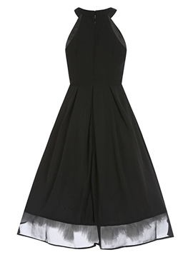 Ericdress Halter Little Black Dress