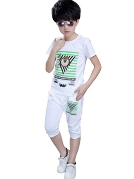 Ericdress Geometrical Printed Pocket Casual Boys Outfits