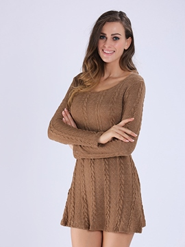 Ericdress Plain Women's Sweater Dress