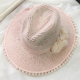 Ericdress Vogue Fuzzy Ball Sunhat