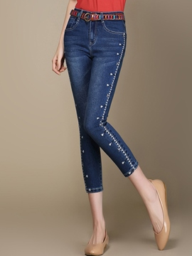 Ericdress Slim Seven Points Jeans