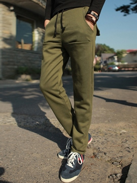 Ericdress Cotton Blends Casual Lace-Up Men's Sports Pants