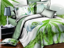 Ericdress Watering Flower and Bamboo Print 3D Bedding Sets