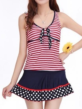 Ericdress Polka Dots Stripe Swimwear