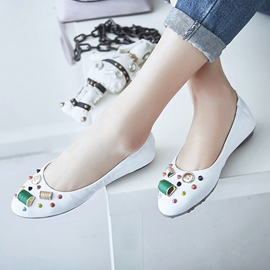 Ericdress Special Beaded Round Toe Flats