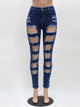 Ericdress Euro-American Style Ripped Jeans