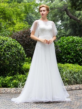 Ericdress Beautiful A Line Backless Wedding Dress