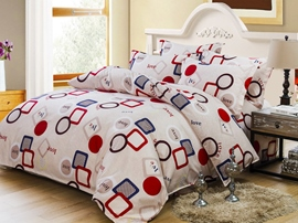 Ericdress Geometric Letter Print Cotton Bedding Sets