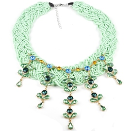 Ericdress Alloy Gemstones Inlaid Women Necklace