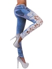 Ericdress Fashion Hollow Lace Patchwork Jeans