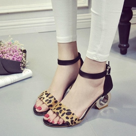 Ericdress Open Toe Leopard Strange Heel Sandals
