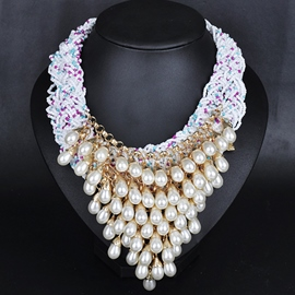 Ericdress Splendid Pearls Tassels Necklace
