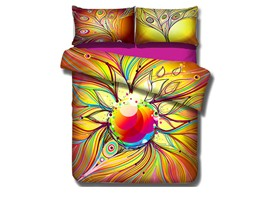 Ericdress Colorful Phoenix Feather Print 3D Bedding Sets