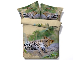 Ericdress Leopard Resting On Ground Print 3D Bedding Sets
