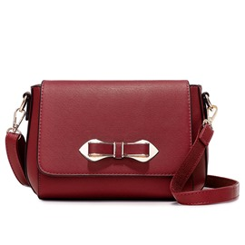 Ericdress Solid Color Bowknot Crossbody Bag