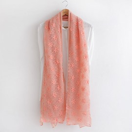 Ericdress Ladylike Lace Floral Embroidery Scarf