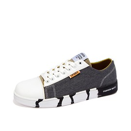 Ericdress Patchwork Round Toe Tie Up Canvas Shoes