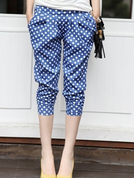 Ericdress Fashion Polka Dots Harem Pants