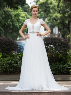 Ericdress Beautiful Lace A Line Garden Wedding Dress