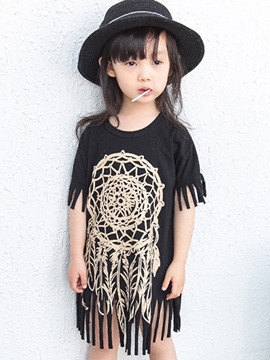 Ericdress Tassel Girls Dress
