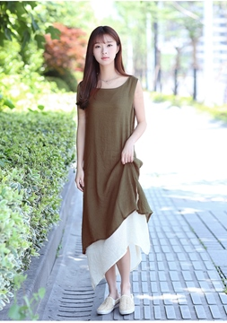 Ericdress Mori Girl Plain Maxi Dress
