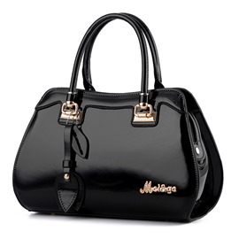 Ericdress Classic Metal Patent Leather Handbag