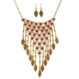 Ericdress Vintage Leaves Tassels Alloy Jewelry Set