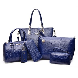 Ericdress Vogue Croco-Embossed Handbags(6 Bags)