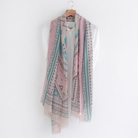 Ericdress Geometric Print Cotton Scarf