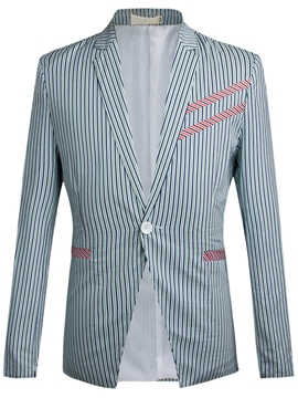 Ericdress Vogue Stripe Slim Men's Blazer