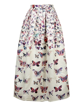 Ericdress Butterfly Print Usual Skirt