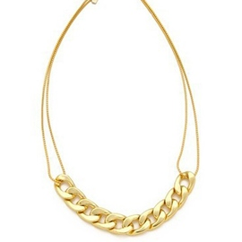 Ericdress Golden Double Layers Chain Necklace