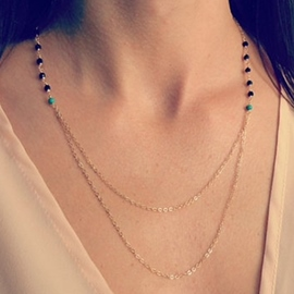 Ericdress Beading Turquoise Necklace for Women