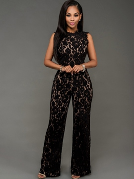 Ericdress Fashion Lace Jumpsuits Pants