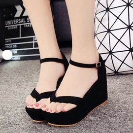 Ericdress Chic Thong Platform Wedge Sandals