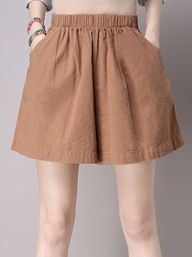 Ericdress Simple Wide Legs Shorts
