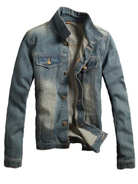 Ericdress Denim Slim Casual Men's Jacket