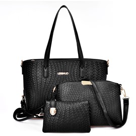 Ericdress Elegant Weaved PU Handbags(3 Bags)