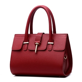 Ericdress Temperament Solid Color Boston Handbag