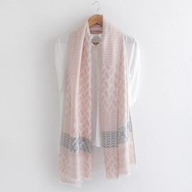 Ericdress Geometric Jacquard Cotton Scarf