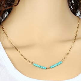 Ericdress Turquoise Chain Necklace