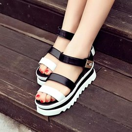 Ericdress Patchwork Flat Sandals