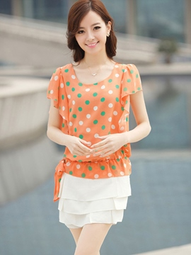 Ericdress Loose Polka Dots Casual Blouse