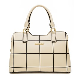 Ericdress European Vogue Plaid Handbag